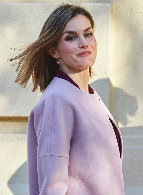Queen Letizia of Spain attends a Meeting with the Foundation for Help Against Drug Addiction (FAD) at FAD Headquarters