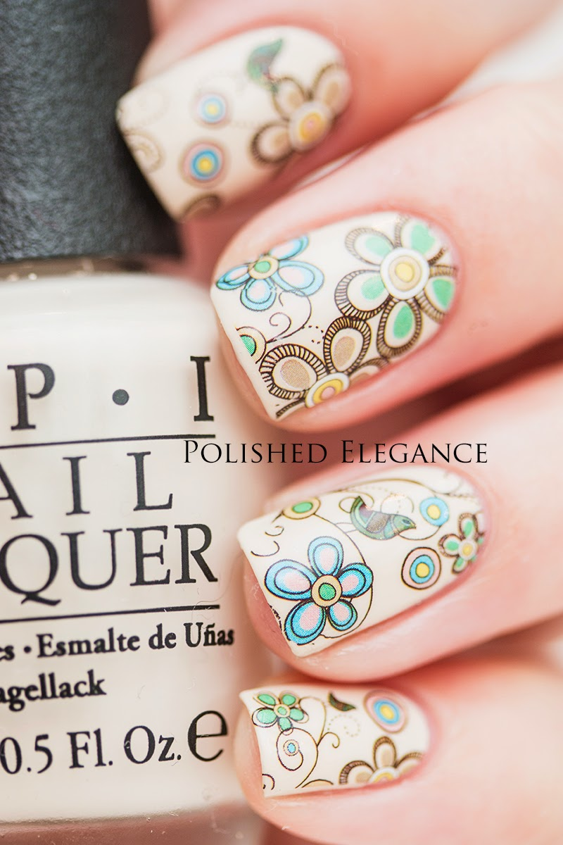 water decals from Born Pretty Store tutorial and review