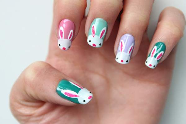 ... went with cutesy bunny nail art! Hopefully this is just in time for you  all to try out this Easter long weekend! Here's the look we're going for: - Syl And Sam: Tutorial - Bunny Nails