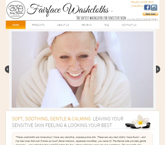 buy wash cloths face cloths sensitive skin rosacea skin care