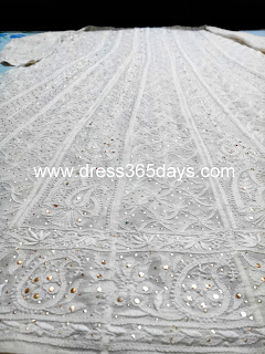 Golden Mukaish Chikankari Anarkali