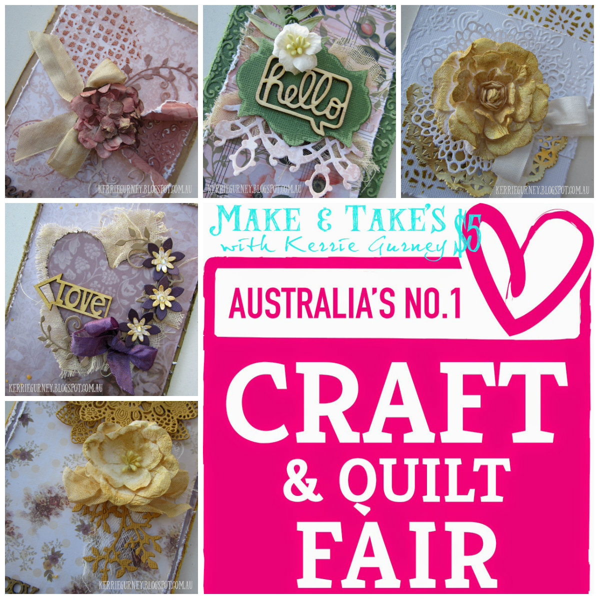 Kerrie gurney make takes craft quilt fair perth for Quilt and craft show