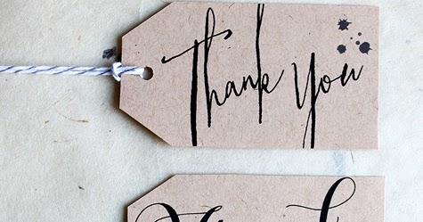 Wedding Gift Tags Nz : ... : DIY Printable Calligraphy Thank You Wedding Favor or Gift Tags