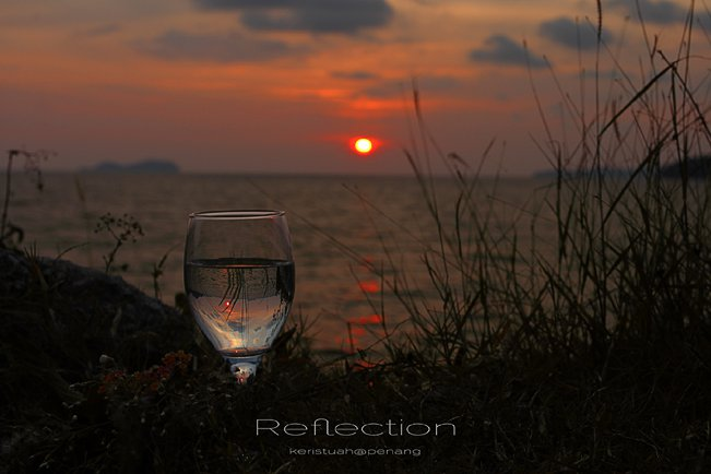 Refraction in a glass