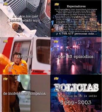 Último capítulo de la serie de Antena 3 'Policías', finales de series
