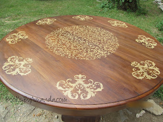 refinished stenciled table