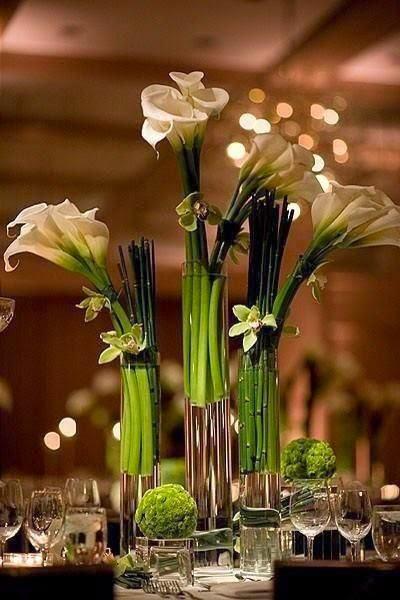 Цветы на фуршетных столах