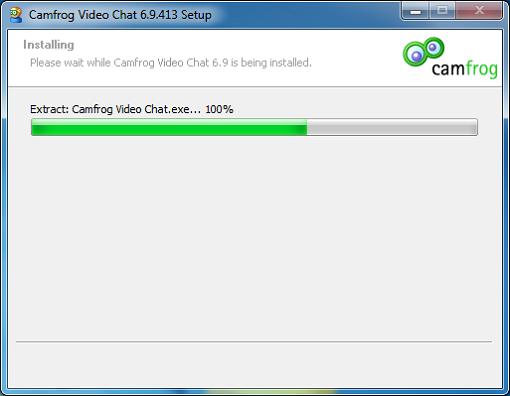 Install Camfrog 6.9 Proses