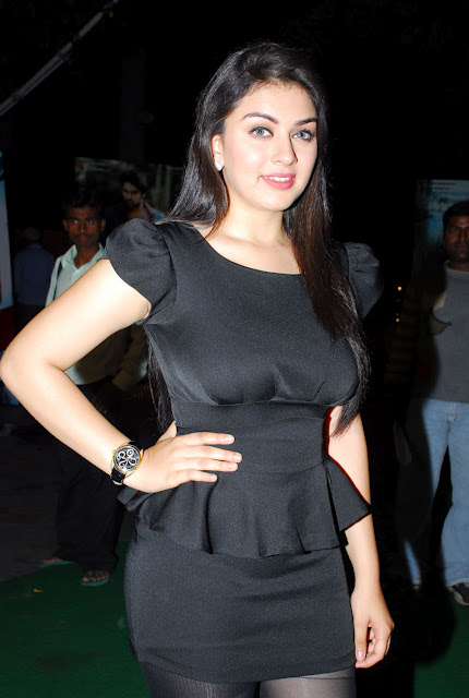 South Actress Hansika Hd Photos In Black dress