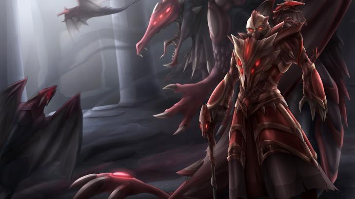 dragon swain skin splash art league of legends game