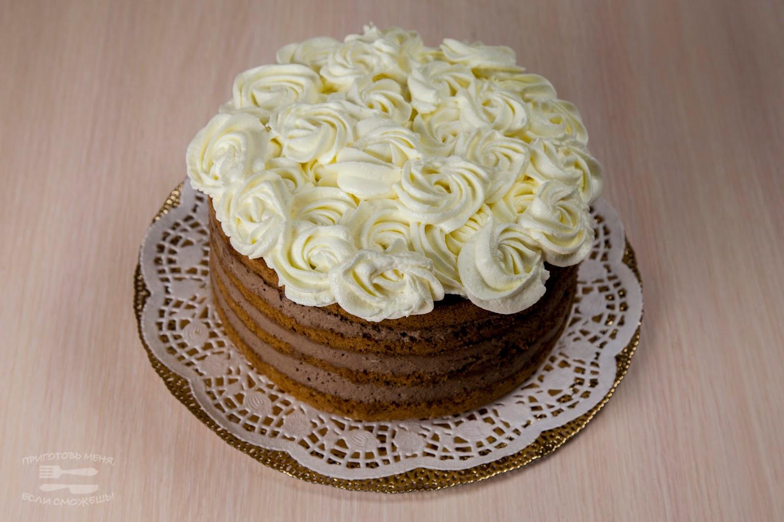 Роза из крема для торта