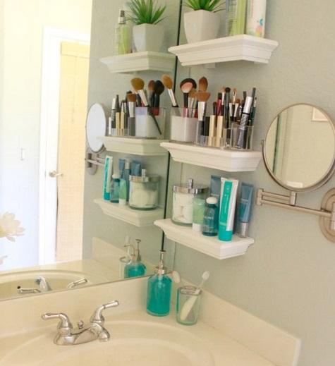 Estantes para organizar y decorar tu ba o decoraci n - Estantes para interior ducha ...