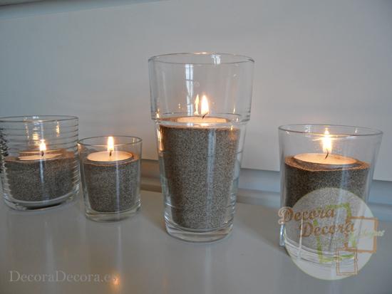 Cómo hacer candelabros para velas en verano