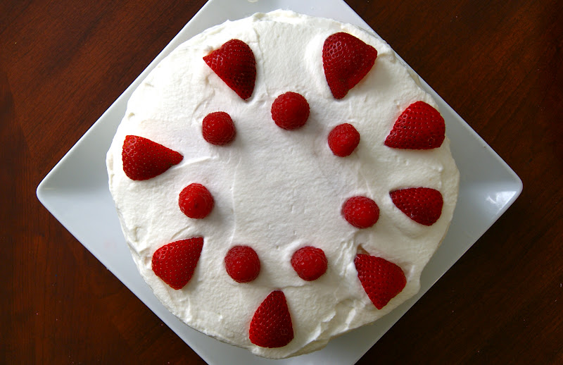 Berry Layer Cake Whipped Cream