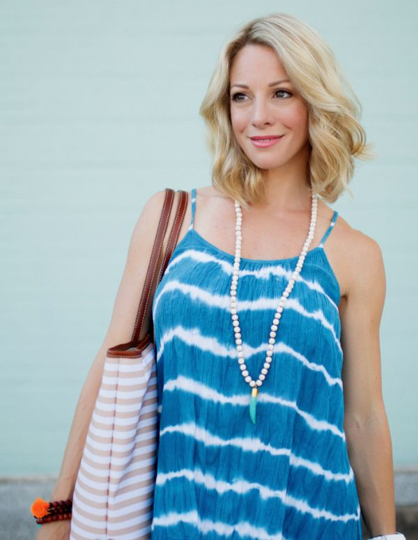 Spring/summer fashion - tie dye tank