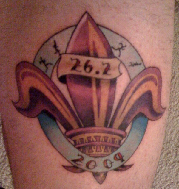 New Orleans inspired marathon tattoo