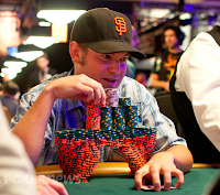 Bryan Devonshire and his eye-popping chip stack