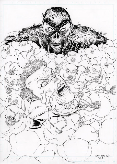 SWAMP THING #23 cover by Guillem March