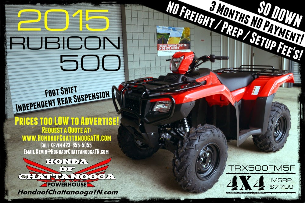 2015 TXR500FM5F Rubicon 500 Honda 4x4 ATV Price Specs For Sale TN PowerSports