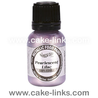 Pearlescent Lilac  Edible Paint for cake decorating