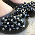 New In Shoes: Silver glitter pumps and black flats