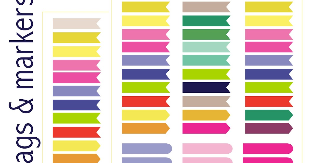 MeinLilaPark: Free printable calendar planner flags and markers ...