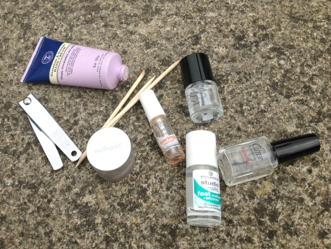Essentials for a manicure