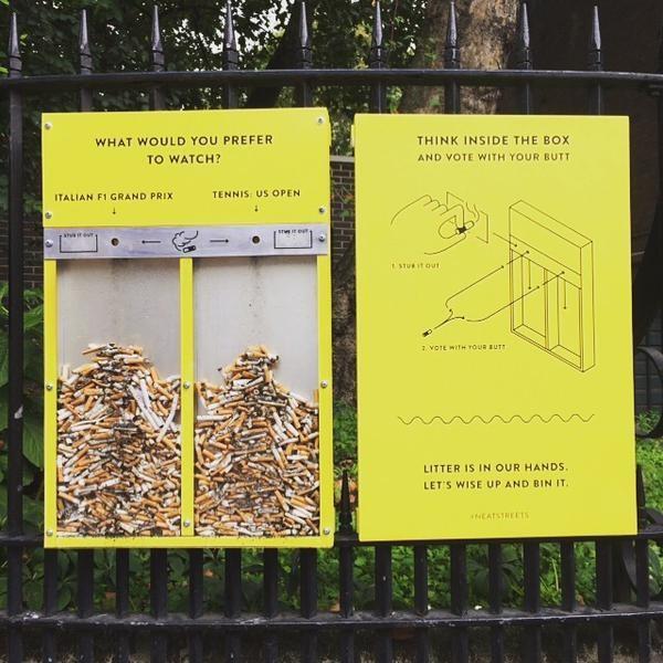 Voting dengan Sampah Rokok