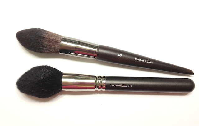 Make Up For Ever 160 Blush Brush MAC 138 Tapered Face Brush