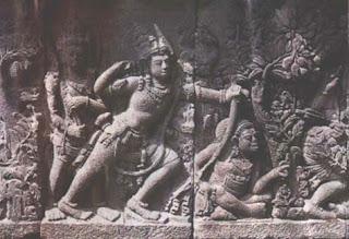 relief hindu budha