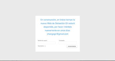 Página web oficial de Sebastián Gil en Directoriopax