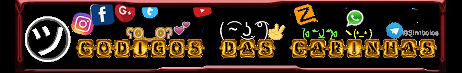 Codigos Das Carinhas ( ͡~ ͜ʖ ͡°) Simbolos e Letras