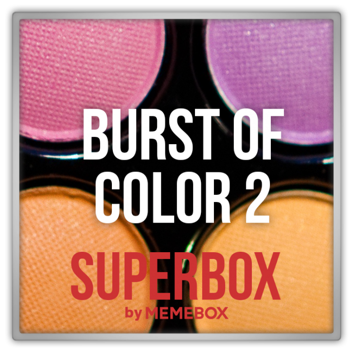 superbox memebox burst of color 2 미미박스 Commercial discount memepoints reward