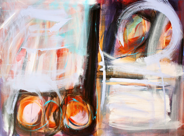 Original Abstract Canvas For Sale Marc Lawrence Torero