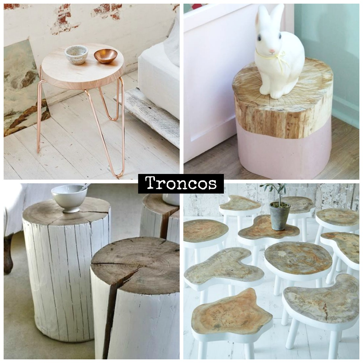 Ideas uso de troncos en decoraci n la taza de loza for Tronco de arbol para decoracion