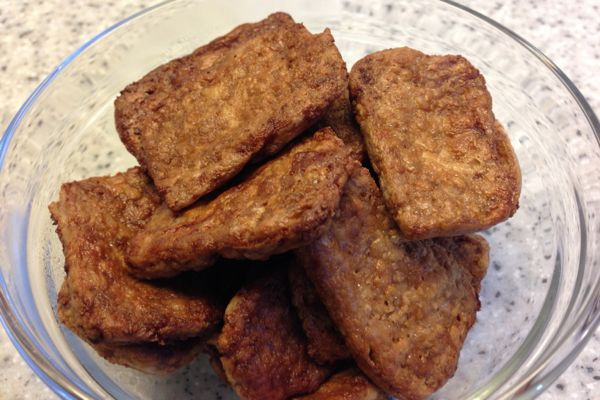 Crispy nufu strips - peanut tofu
