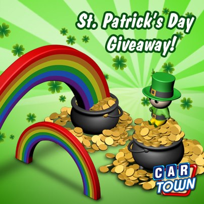 Car Town: Code Promo St. Patrick´s Day 2013