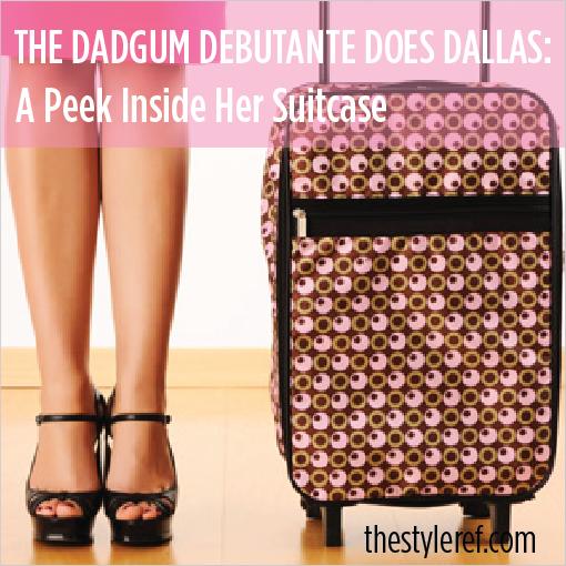 The Dadgum Debutante in Dallas for gameday