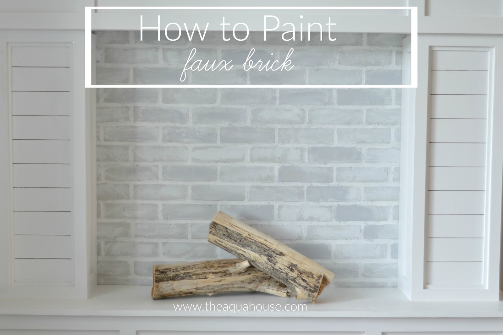 The aqua house how to paint faux brick for Uses for a brick