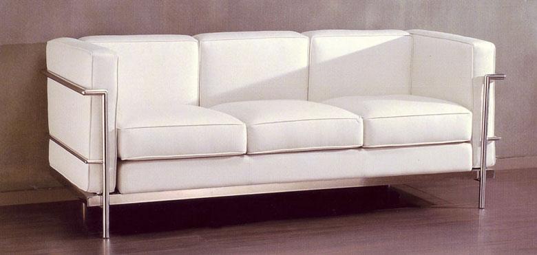 Sof s y chaise longue en piel blanca - Sofas de diseno en piel ...