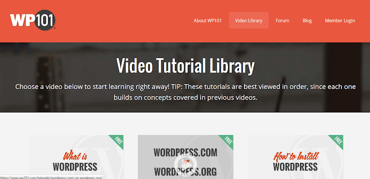 WP101 Free WordPress videos