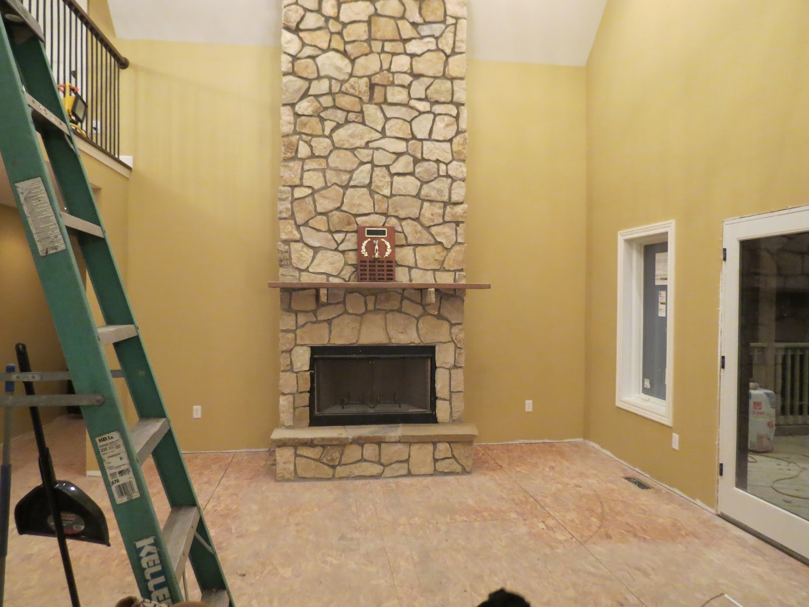 let u0027s just build a house stone fireplace reveal