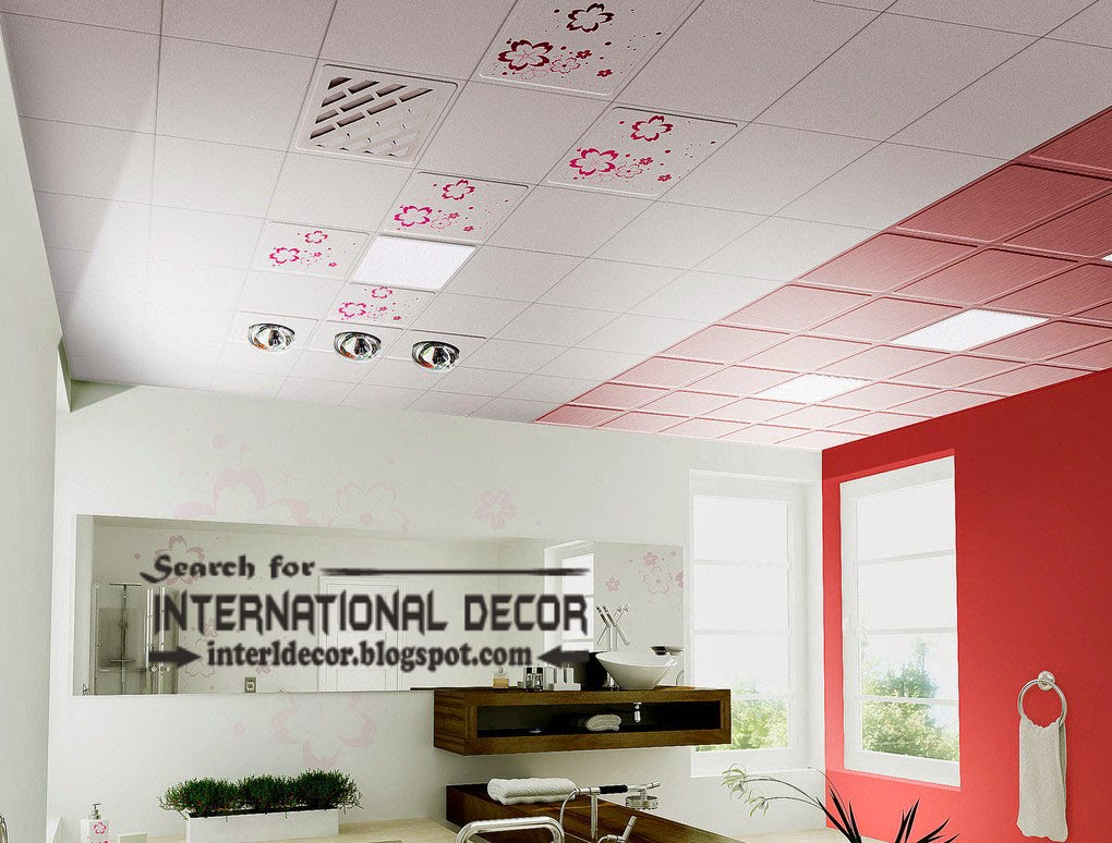 Suspended ceiling tiles designs for bathroom ceiling, beautiful ceiling tiles