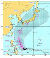 Taifun GUCHOL (BUTCHOY) auf dem Weg nach Japan, Guchol, Butchoy, Taifunsaison, Taifun Typhoon, Taifunsaison 2012, aktuell, Juni, 2012, Pazifik, Philippinen, Japan, Vorhersage Forecast Prognose, Verlauf, Zugbahn,