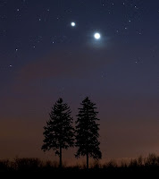 Venus and Jupiter Converging March 12 - 13