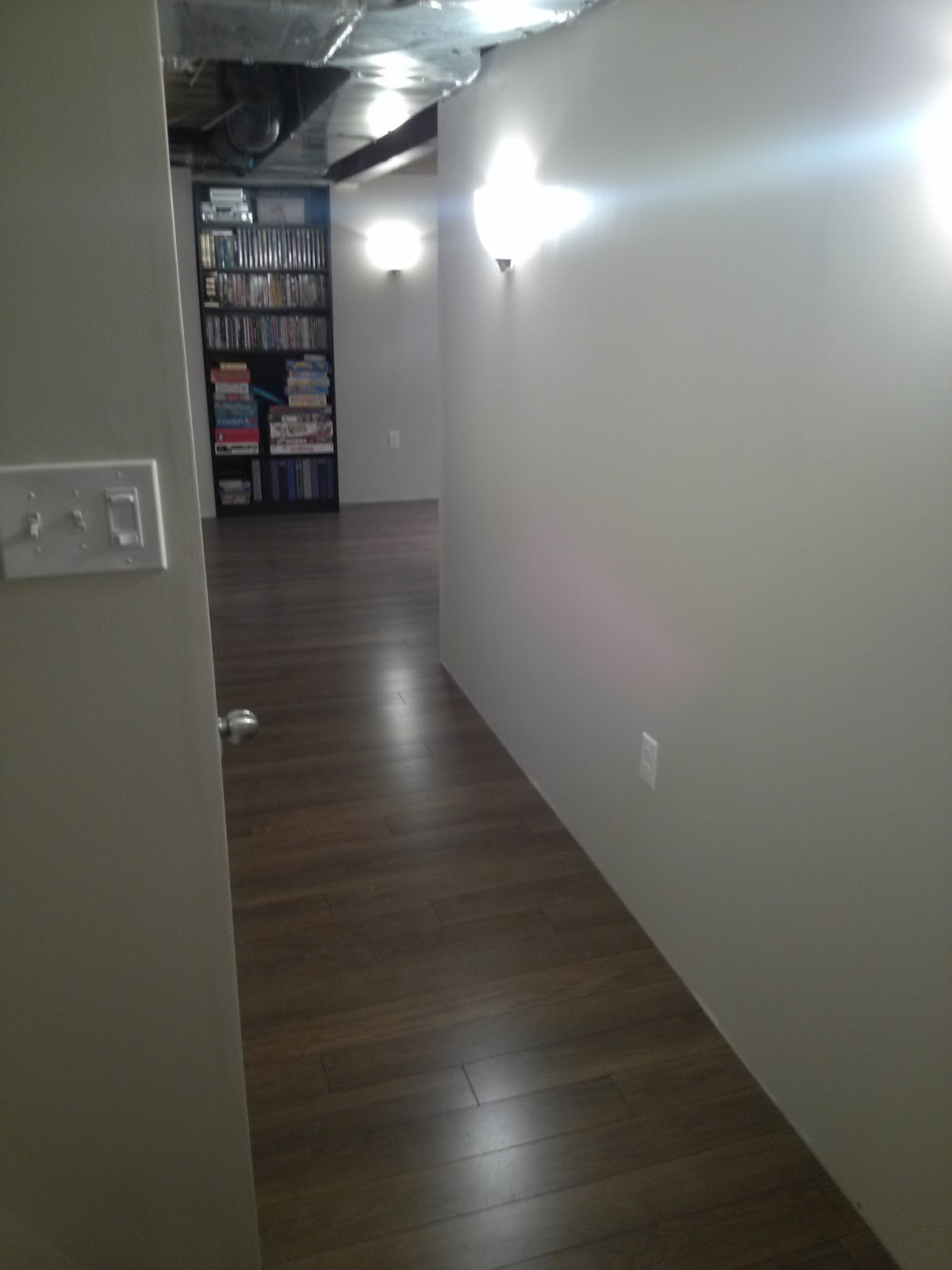 the scene from here laminate floor in basement