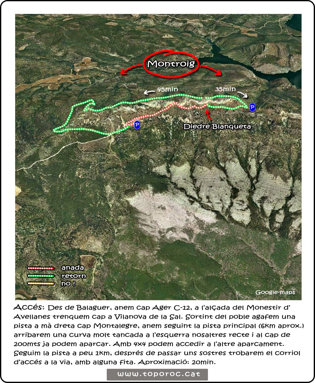 Ressenya-acces-via-escalada-Diedre-Blanqueta