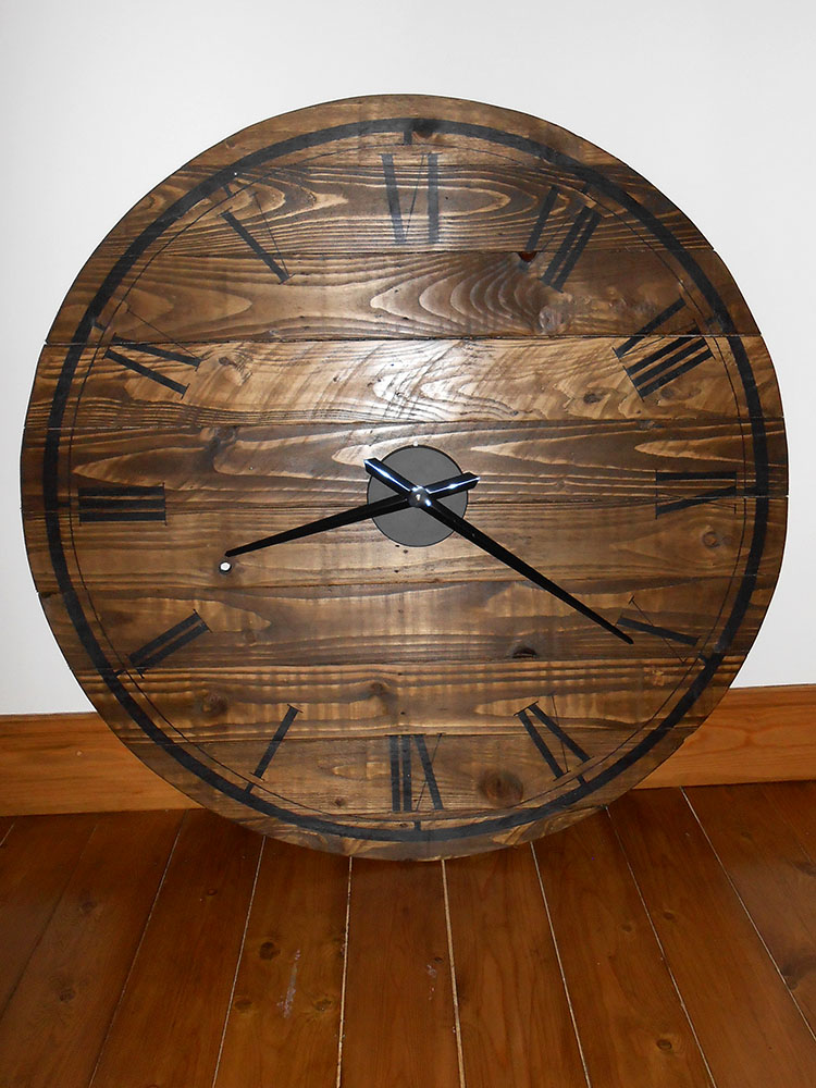coach house crafting on a budget pallet wood clock
