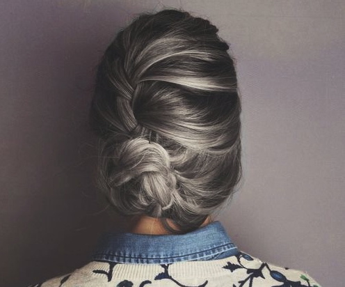 gray hair grey braid