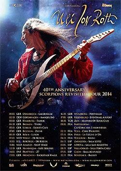Gira por España de Uli Jon Roth en noviembre 2014